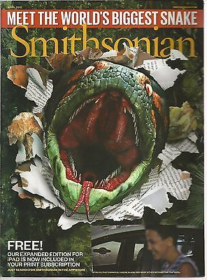 Smithsonian April 2012 The World's Biggest Snake/Casanova/Venice/American Prom