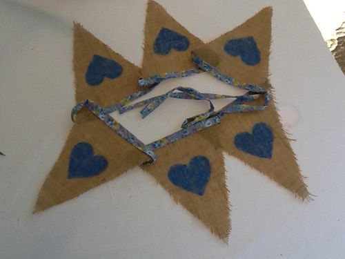 Hessian & Blue Hearts