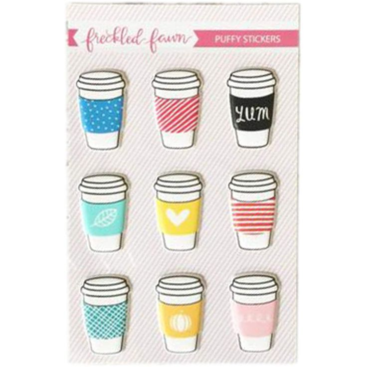 Freckled Fawn Puffy Stickers-Drink Cups - drink cups