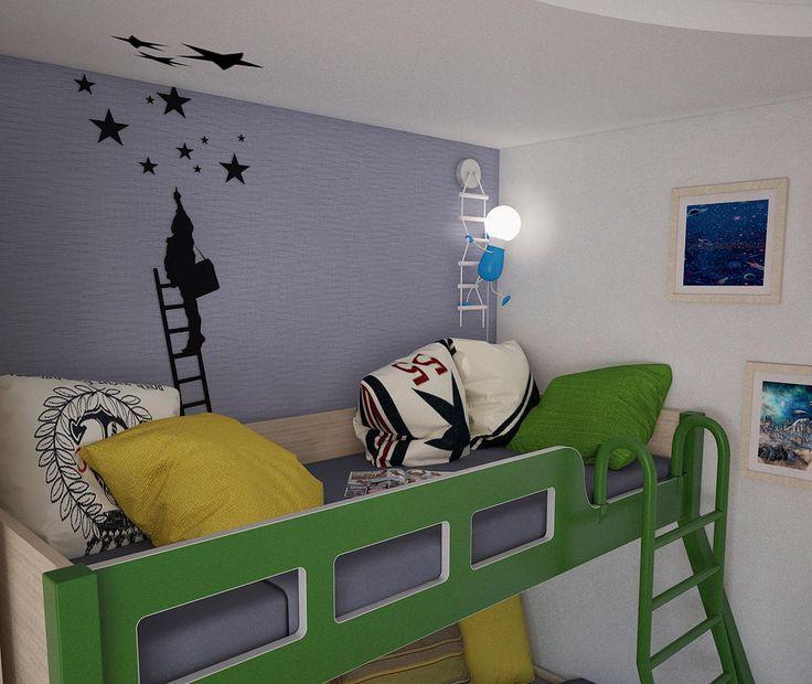 Дизайн интерьера квартиры Идея для декора детской