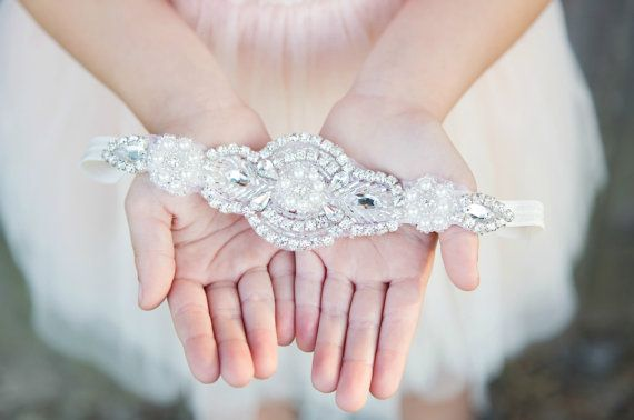 Hey, I found this really awesome Etsy listing at https://www.etsy.com/listing/199966706/flower-girl-headband-rhinestone-headband
