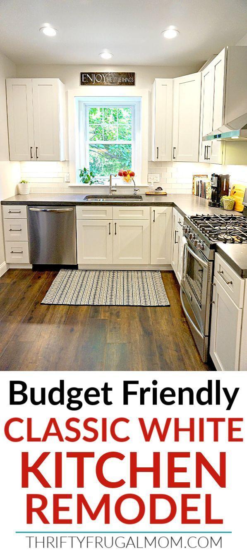 Budget Friendly Classic White Kitchen Remodel   White kitchen ...