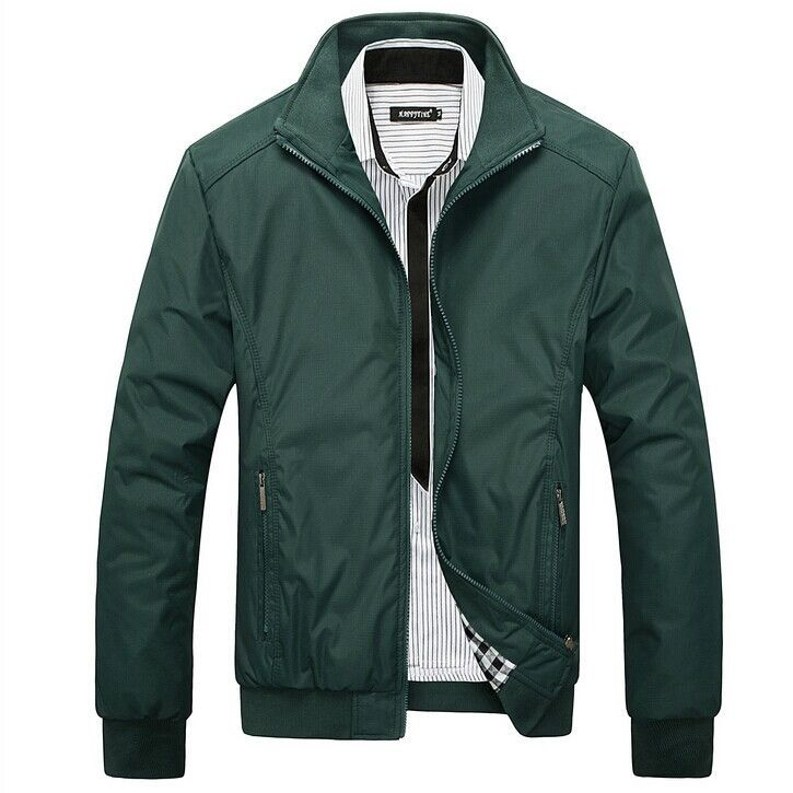 Men's Jacket Spring Autumn Fashion Overcoat New Arrival Stand Collar Slim Casual Style Whole Sale 3 Colors MWJ682