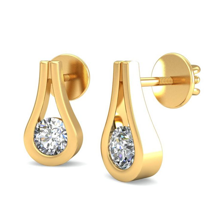 #earrings #gold #diamond