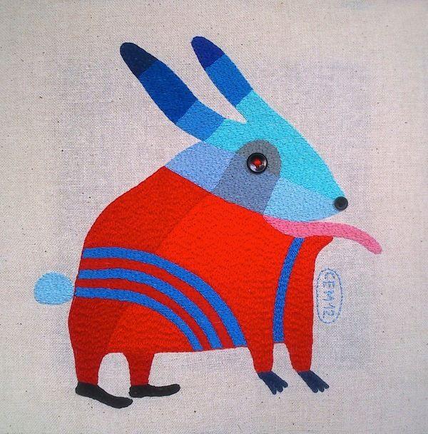 My textile work (Babaji) by Ivan Semesyuk, via Behance