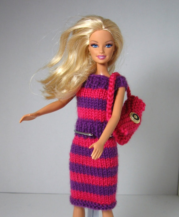 Barbie Knitting Patterns : 17 Best images about BARBIE on Pinterest Crochet barbie clothes, Doll dress...
