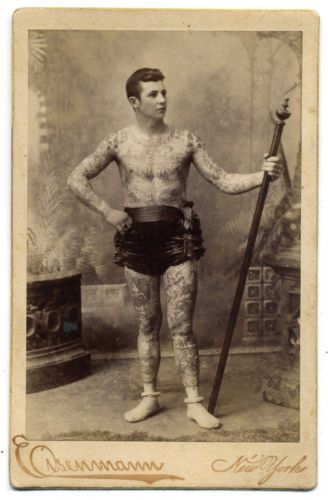 RARE-EISENMANN-TATTOOED-BOY-GEORGE-KARLAVAGN-CABINET-CARD-PHOTOGRAPH