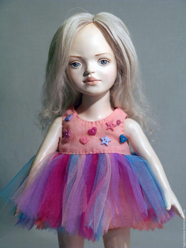 Купить Кайса - комбинированный, кукла ручной работы, девочка, шляпа из фетра, хеллоуин, Литьевой пластик