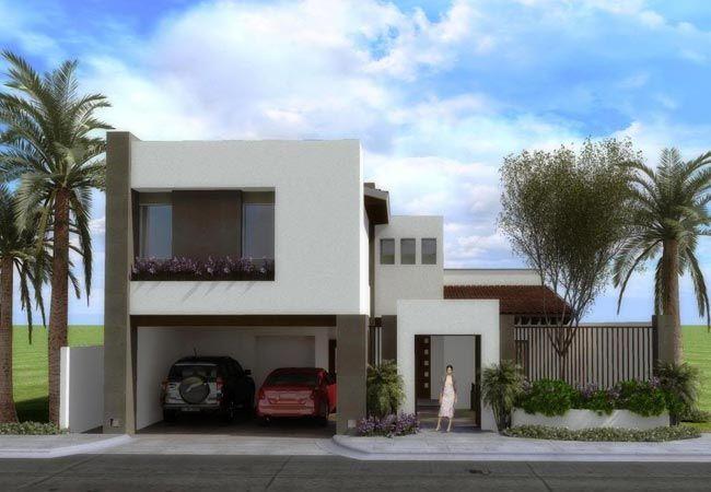Fachadas de casas modernas de dos pisos cocina for Casas pequenas de dos pisos modernas
