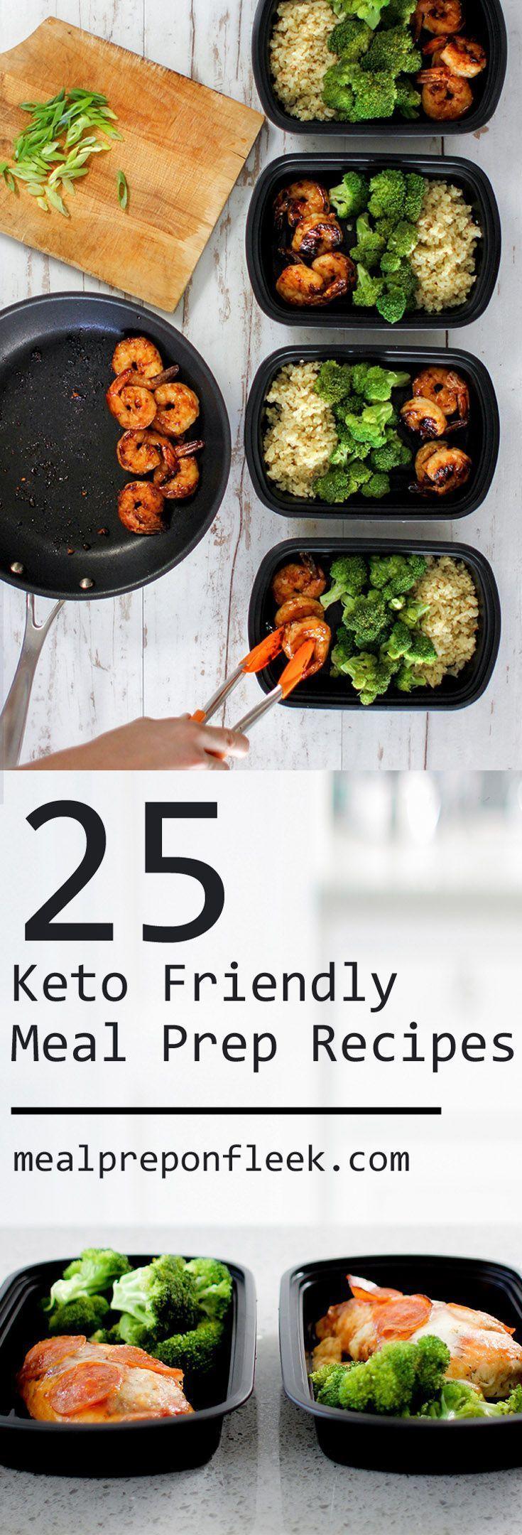 25 köstliche Keto-Diät-Rezepte: fettreiche, kohlenhydratarme Keto-Diät. Ketomahlzeitvorbereitun