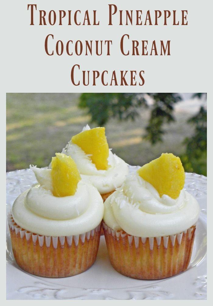 Tropical Pineapple Coconut Cupcakes Recipe
