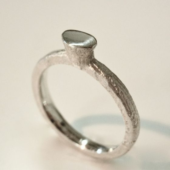 Sterling silver cast ring by ntm. jewellery