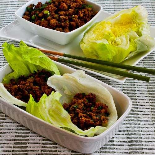 Recipe for Quick Sriracha Beef Lettuce Wraps