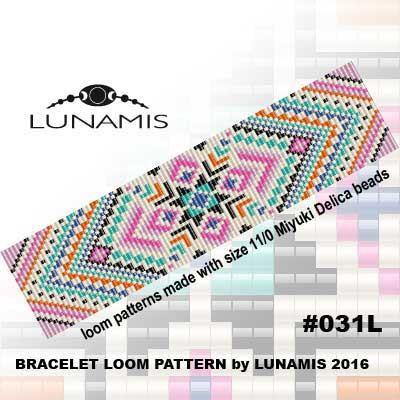 Bracelet pattern loom pattern square par LunamisBeadsPatterns