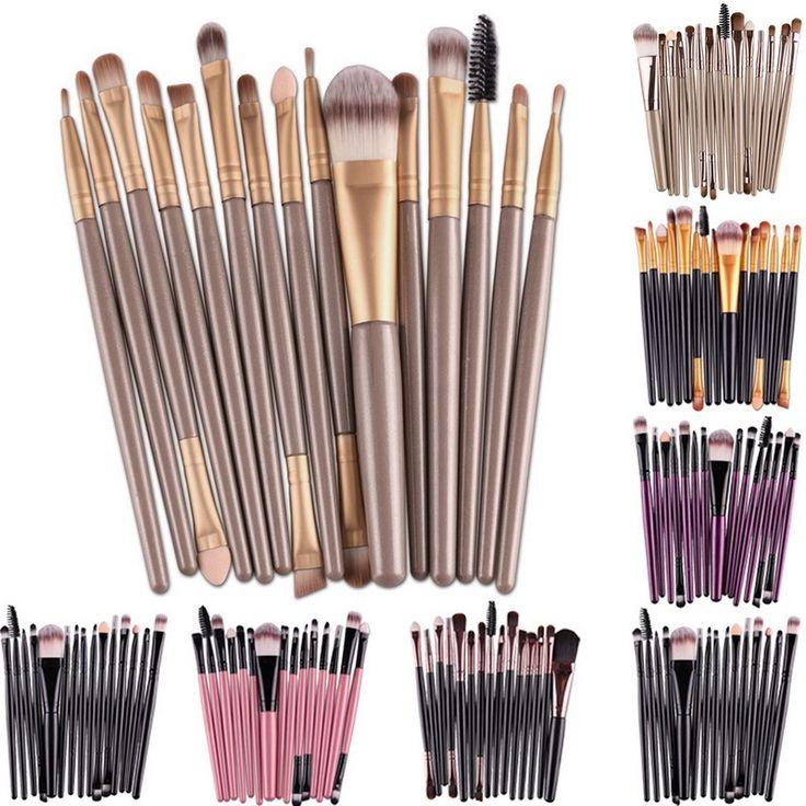 Profesional 15 Unids Makup Cepillos Herramientas de maquillaje Kit del artículo de Tocador Marca de Maquillaje Cepillo Conjunto Pincel Maleta De Maquiagem GUB #