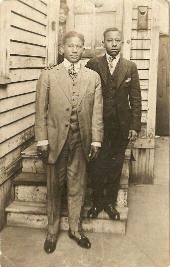 Young Black men in the early 1900's