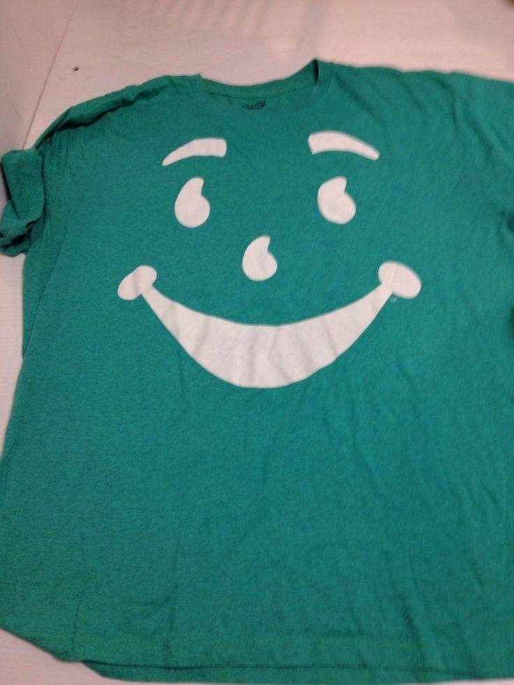 Green Kool aid Man Face Shirt XL #KoolAid #BasicTee