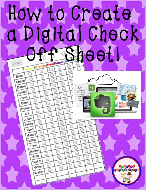 Digital Check off Sheets with IPad