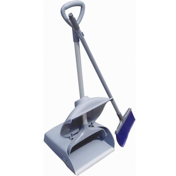 Housekeeping - Upright Dustpan And Brush
