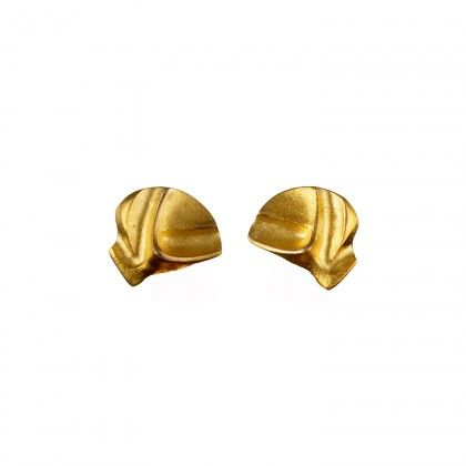 Mini Aida earrings 14K / Design Zoltan Popovits / Gold Earrings / Lapponia Jewelry / Handmade in Helsinki