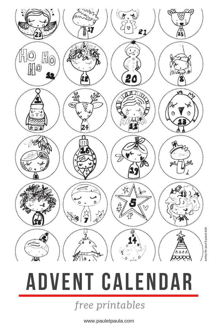 Kids Paul Paula Advent Calendars For Kids Printable Advent Calendar Christmas Crafts Decorations [ 1102 x 735 Pixel ]
