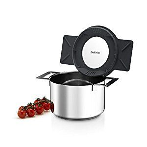 Amazon.com: Eva Solo Gravity Cookware - Stainless Steel 2.0 L Cooking Pot with Grey Multifunctional Lid: Saucepans: Kitchen & Dining