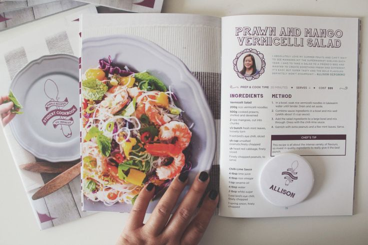 UNSW Student Cookbook 2014: Prawn and Mango Vermicelli Salad