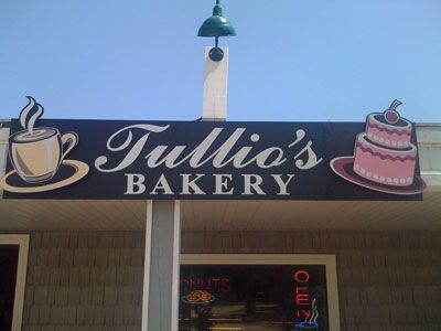 Tullio's Bakery in Duck NC -- fabulous pastries, cakes, and Italian ices. The cinnamon rolls get five stars.