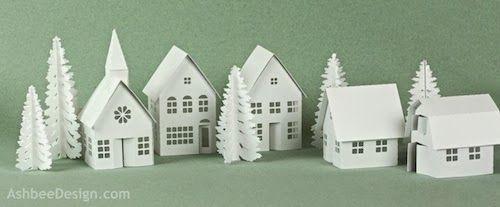 Ashbee Design Silhouette Projects: Tea Light Village Tutorial