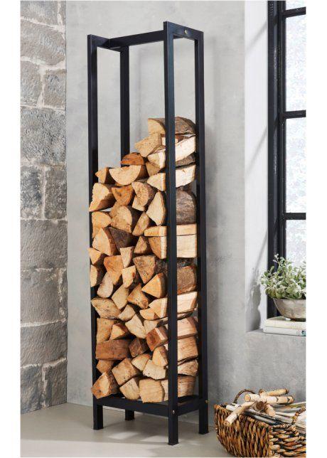 "Kaminholzregal ""Timber"", bpc living, schwarz 59,99€"