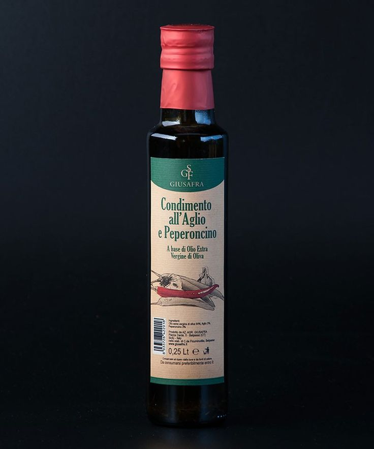 La Sicilia Store Olio extravergine di oliva aromatizzato all'aglio e peperoncino