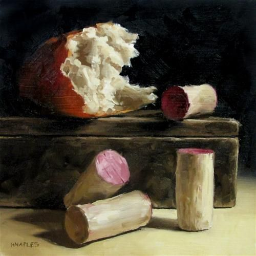 """Broken Bread with Corks"" - Original Fine Art for Sale - © Michael Naples"