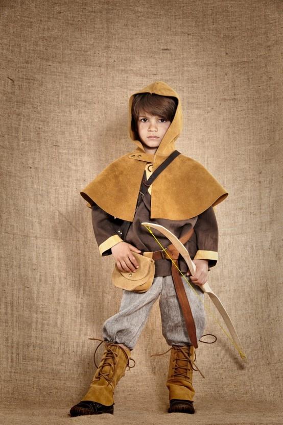 Costume médiéval de Robin des bois, inspiré dun archer
