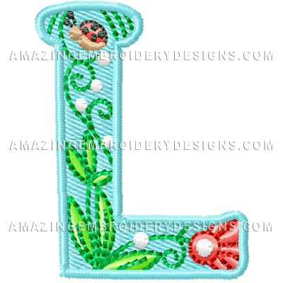 Free Applique Letter Embroidery Designs