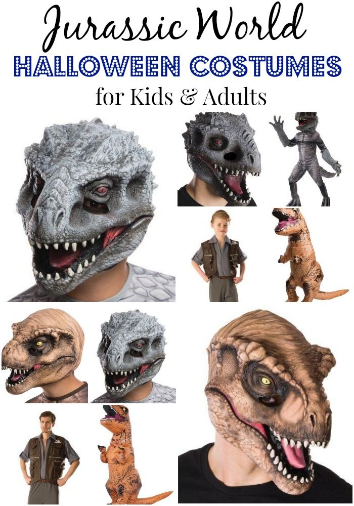 These Jurassic World Halloween Costumes for both kids and adults are about as cool as costumes get. There are masks, inflatable T-Rex costumes and more. Pre-order them now because these are going to go fast! They should be in come September.