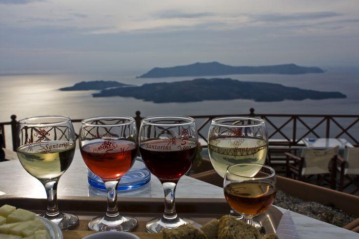 Enjoy #Santorini's local #wines!