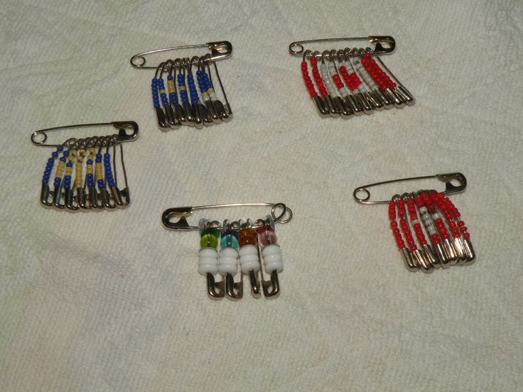 Girl Guide Safety Pin and Bead Crafts
