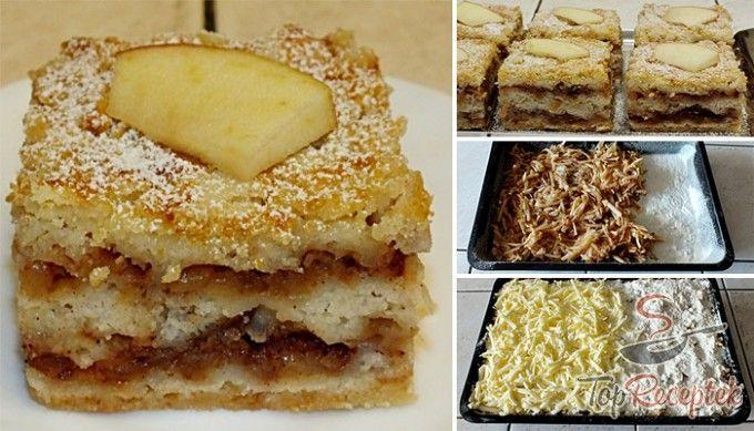 Réteges bögrés-almás sütemény
