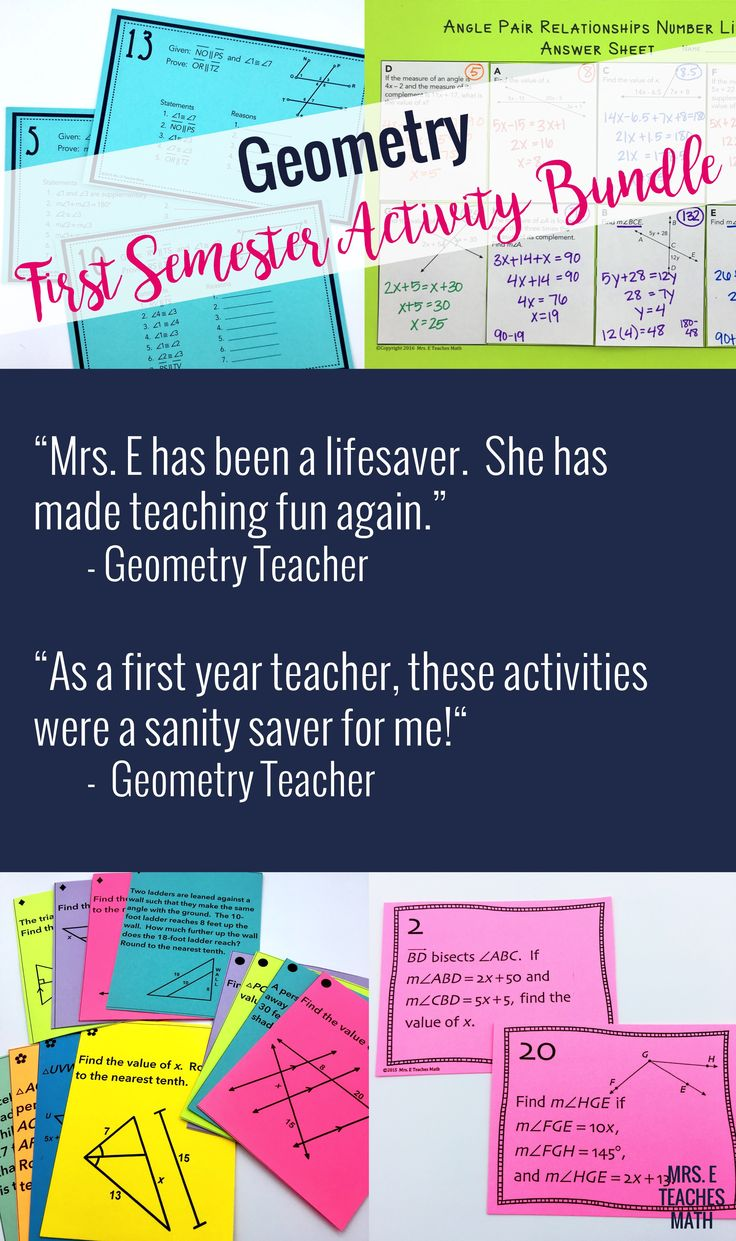 These high school geometry activities have saved my life!  My students have had fun with the task cards, games, and hands on activities.  Being a math teacher is fun again!