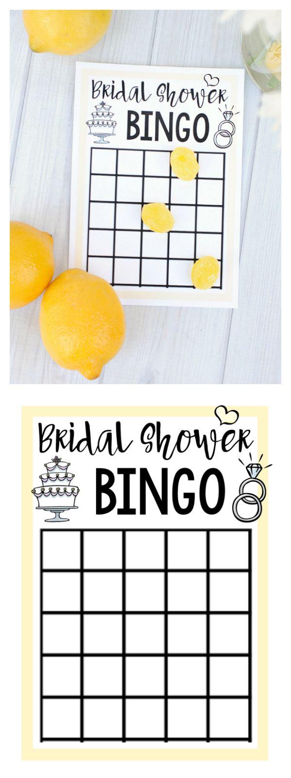 Free Printable Bridal Shower Bingo Game