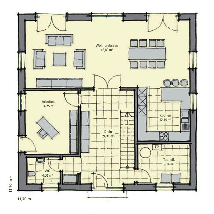 Moderne häuser grundriss neubau  10 besten Haus Bilder auf Pinterest | Haus ideen, Grundrisse und ...