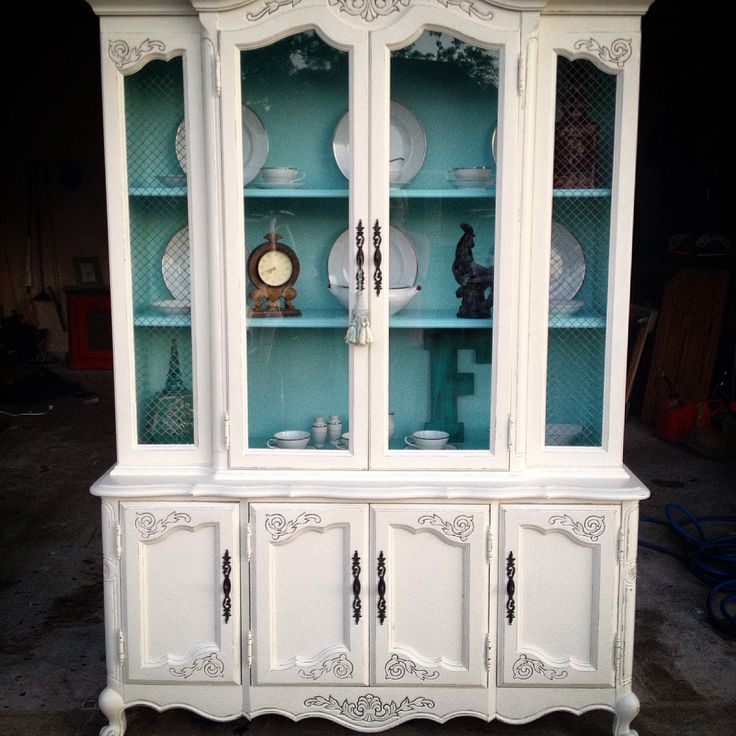 Antique White China Cabinet Furniture - Antique White China Cabinet -  Seeshiningstars - Antique White China - Antique White China Cabinet Antique Furniture