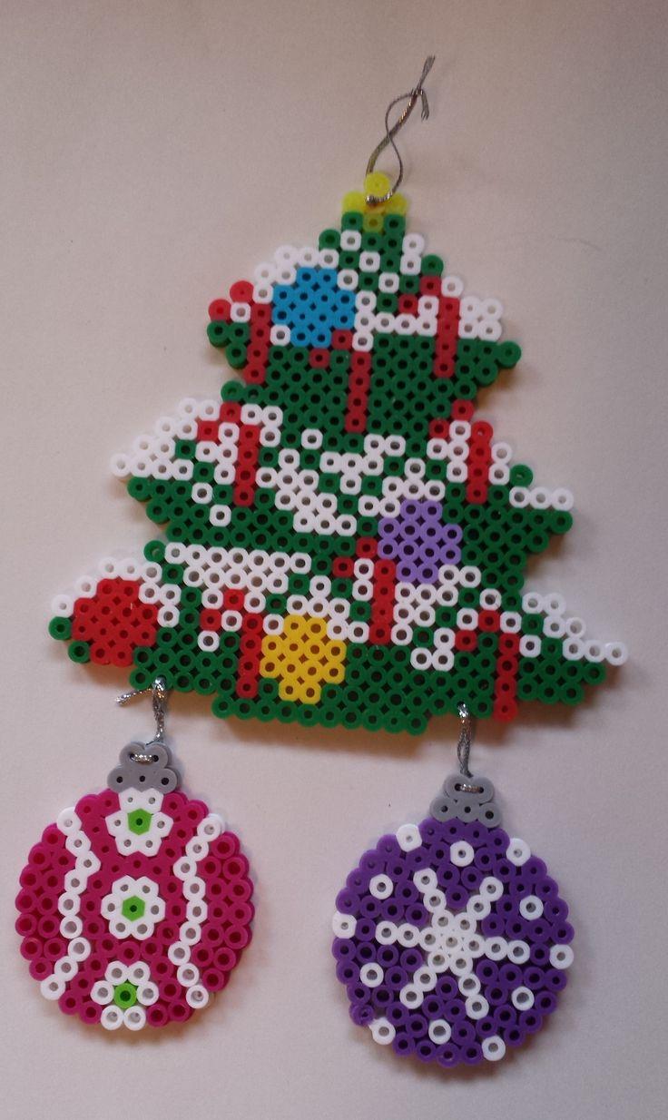 Perler Christmas ornament.