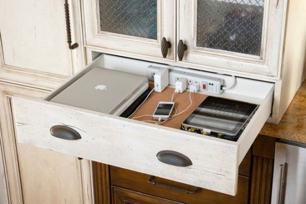 Hideaway drawer for your electronics | Cool Mom Tech