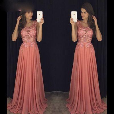 Sleeveless Chiffon Prom Dress,Sexy Prom Dresses,Long Prom Dress,Formal