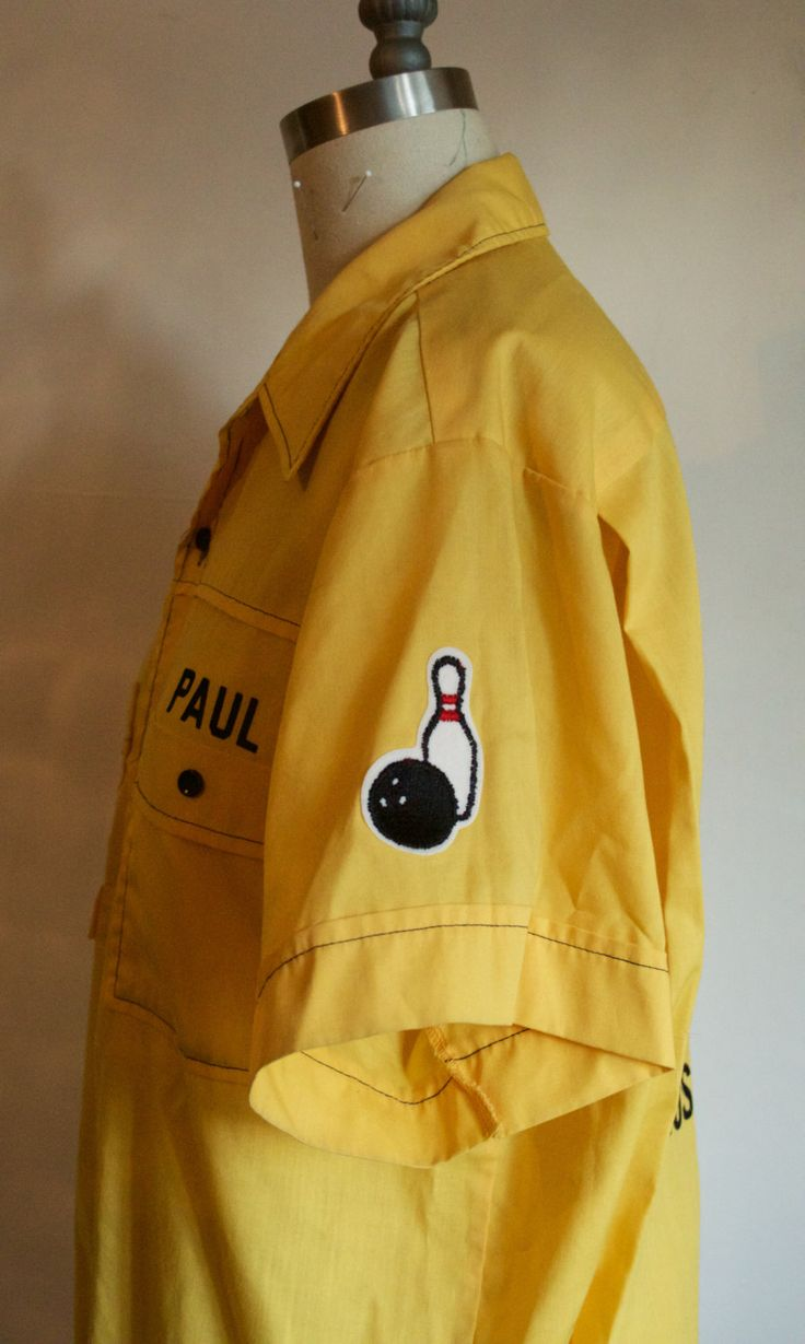 Paul- Vintage Bowling Shirt with Shoulder Patch by CoseIndisciplinati on Etsy