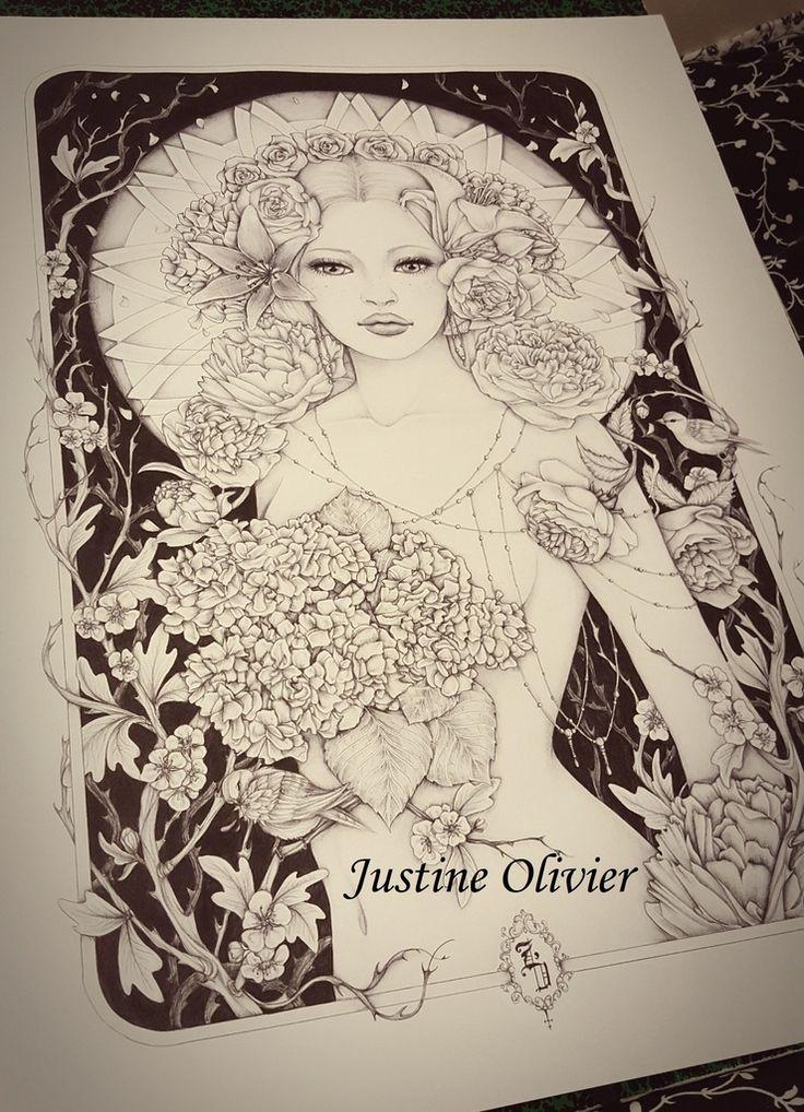 Voici mes derniers dessins que j'ai exposer à l'occasion du Salon des Artisans Créateurs du Mans. Cette nouvelle petite série est entièrement réalisée au stylo bic noir sur fond de papier blanc. Je voulais faire un thème de portraits féminins élaborés...