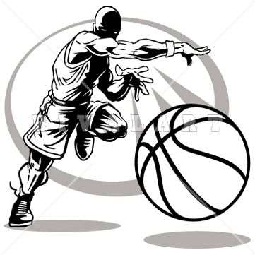 Basketball graphic art