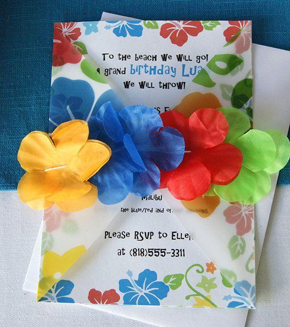 Luau Party invitation. Such a fun set of Luau printables!