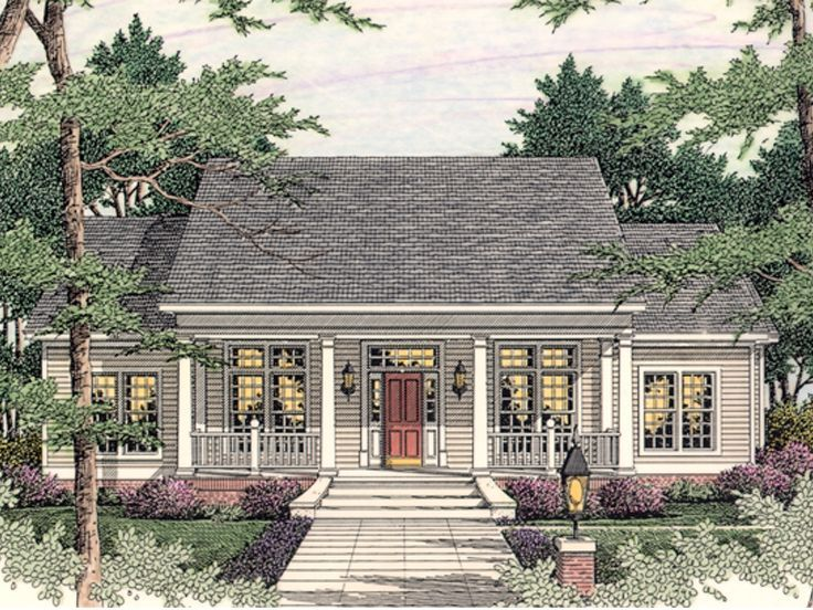 Country ranch house 042h 0020 house and decorating for Unique country house plans